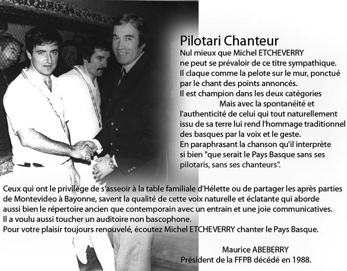 Michel Etcheverry Pelotari